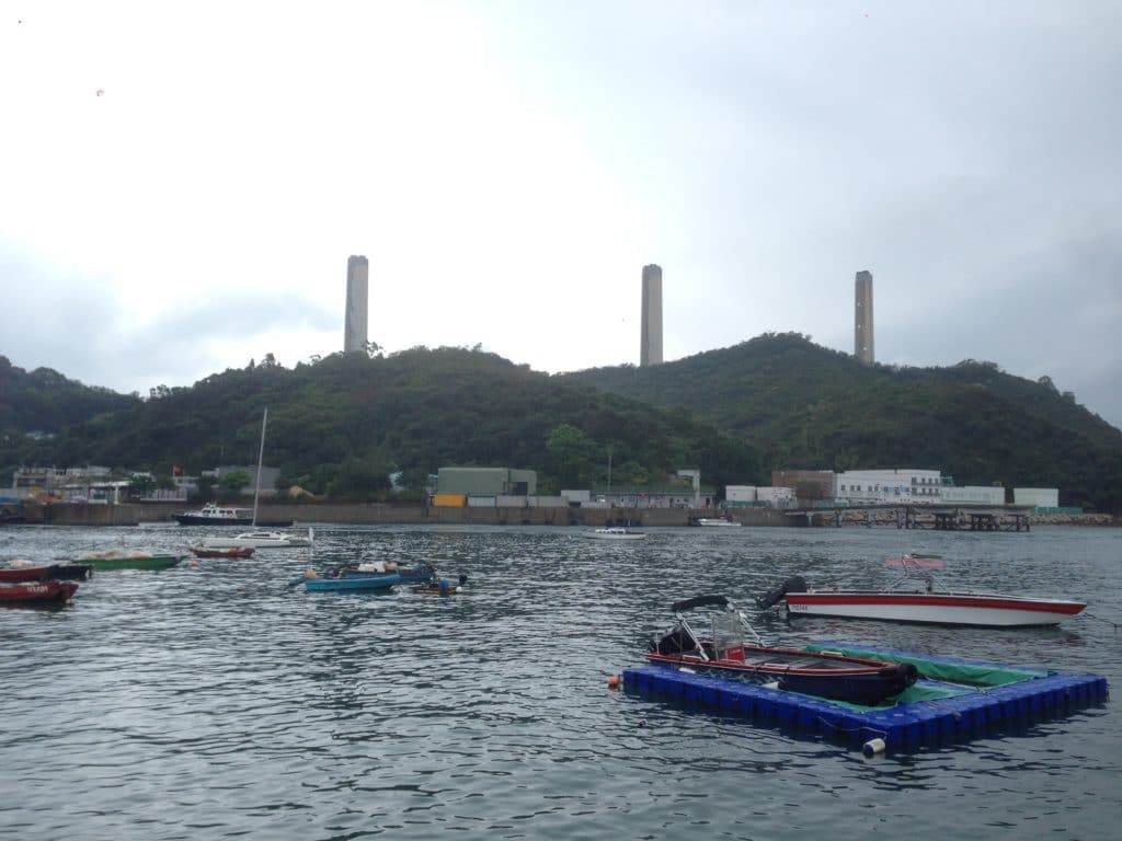 The symbolic landmark of Lamma Island: the three chimney of Lamma Power Station