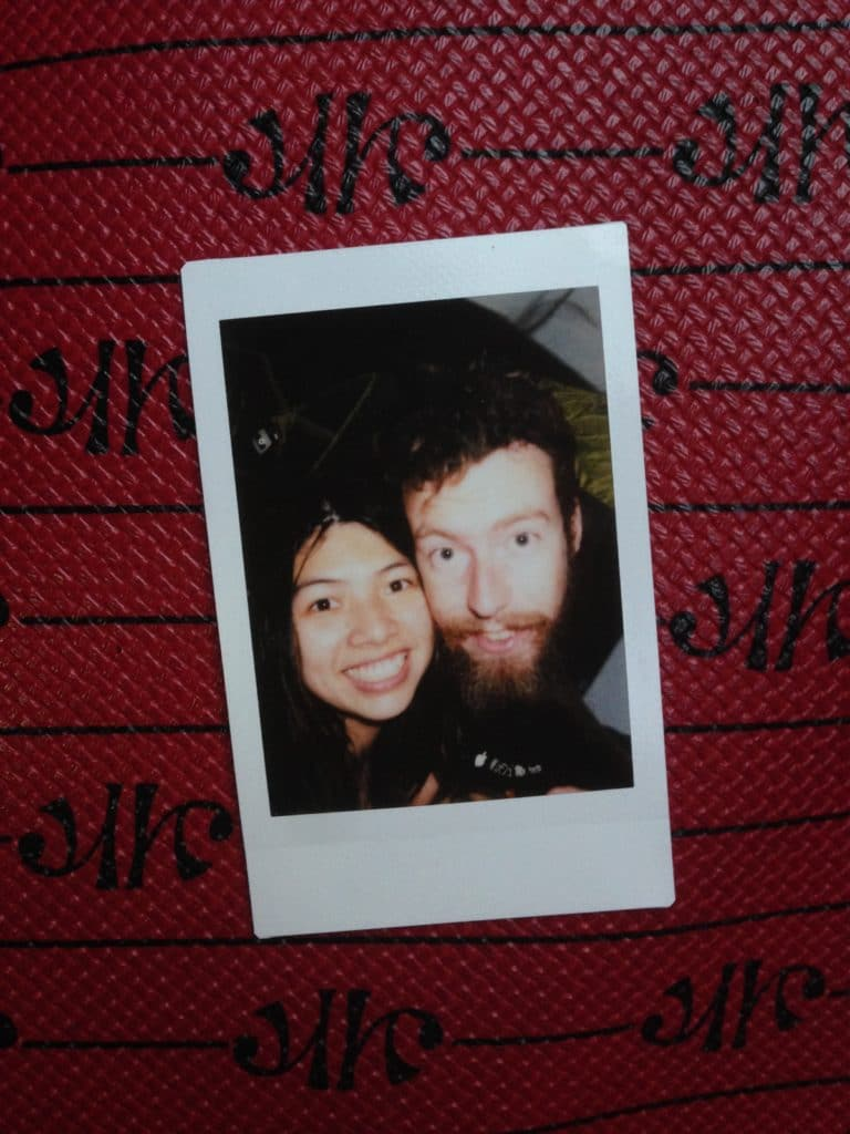 An instant photo of us