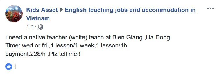 "A school looking for a ""white"" teacher"