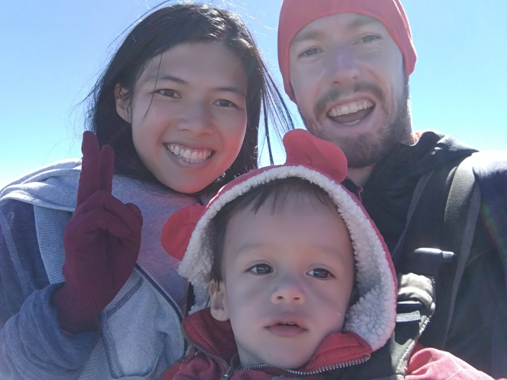 Photo of the three of us at the top of Yushan