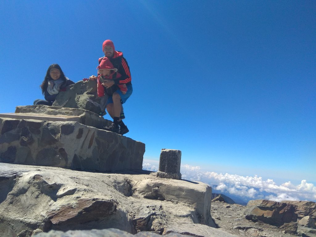 Failed photo of us at the top of Yushan