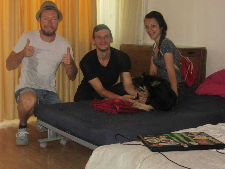 Photo with a couple I stayed with