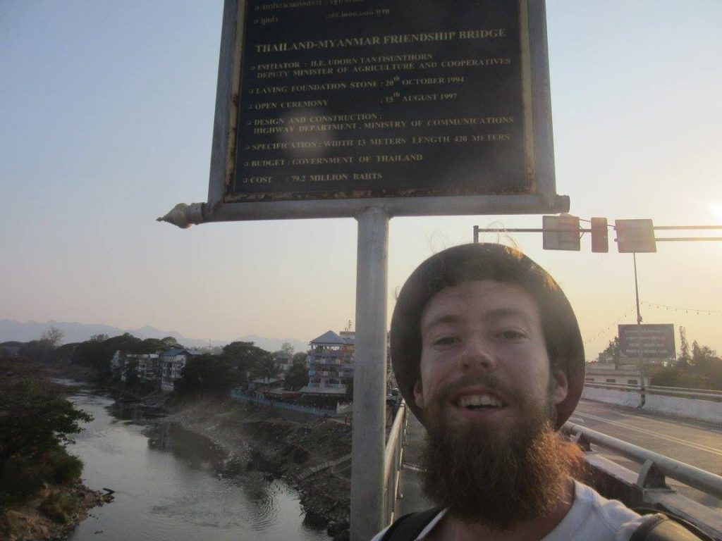 Maxime at the border between Myanmar and Thailand