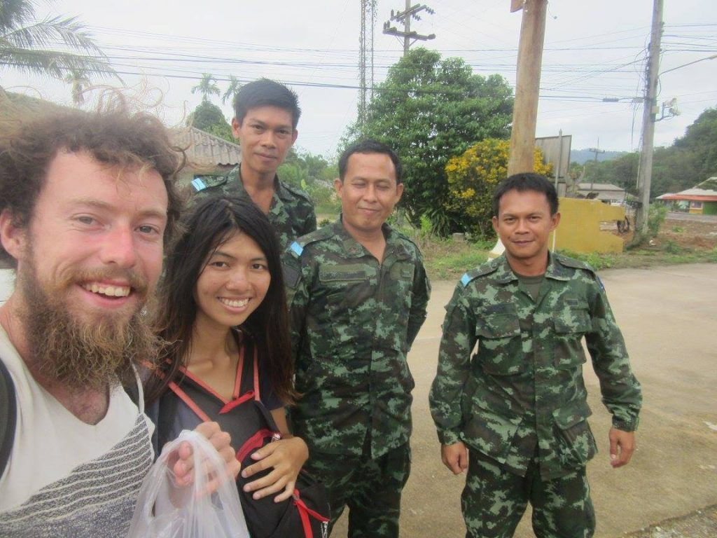 Hitchhiking in Thailand with the army