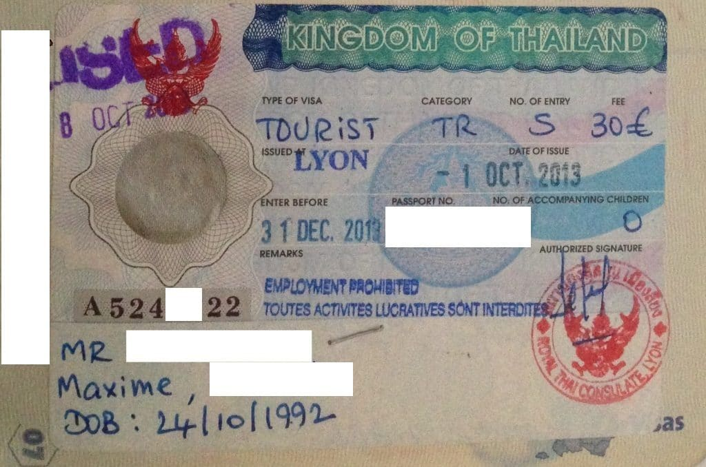 60-day visa for Thailand