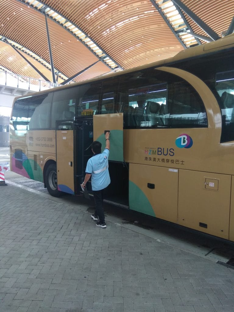 The HZMB shuttle bus