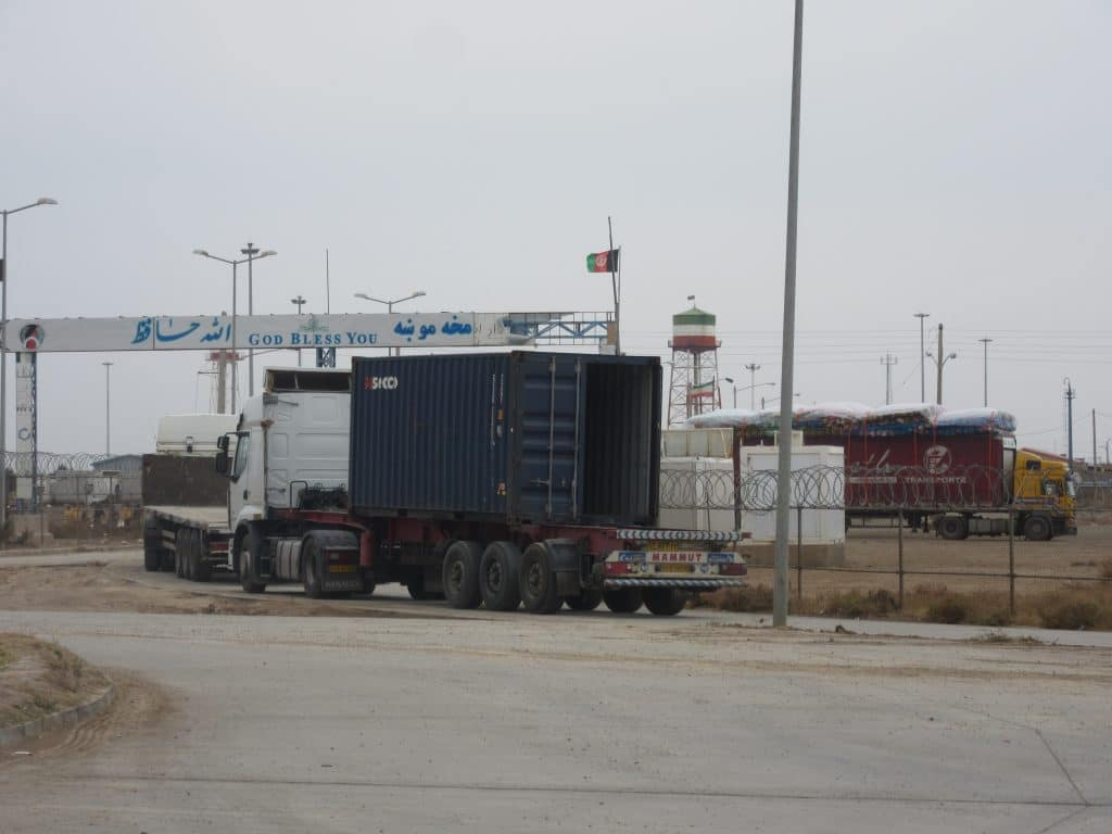 Border post between Afghanistan and Iran. The beginning of my travel in Afghanistan!