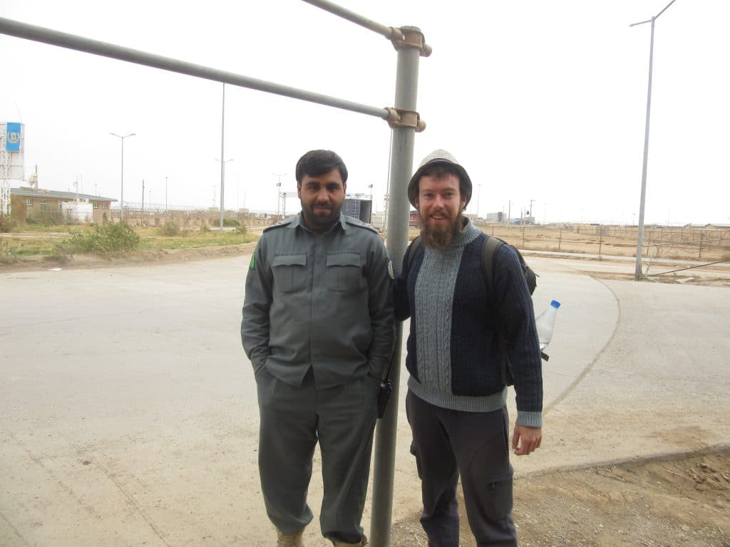 Me with an Afghan border guard