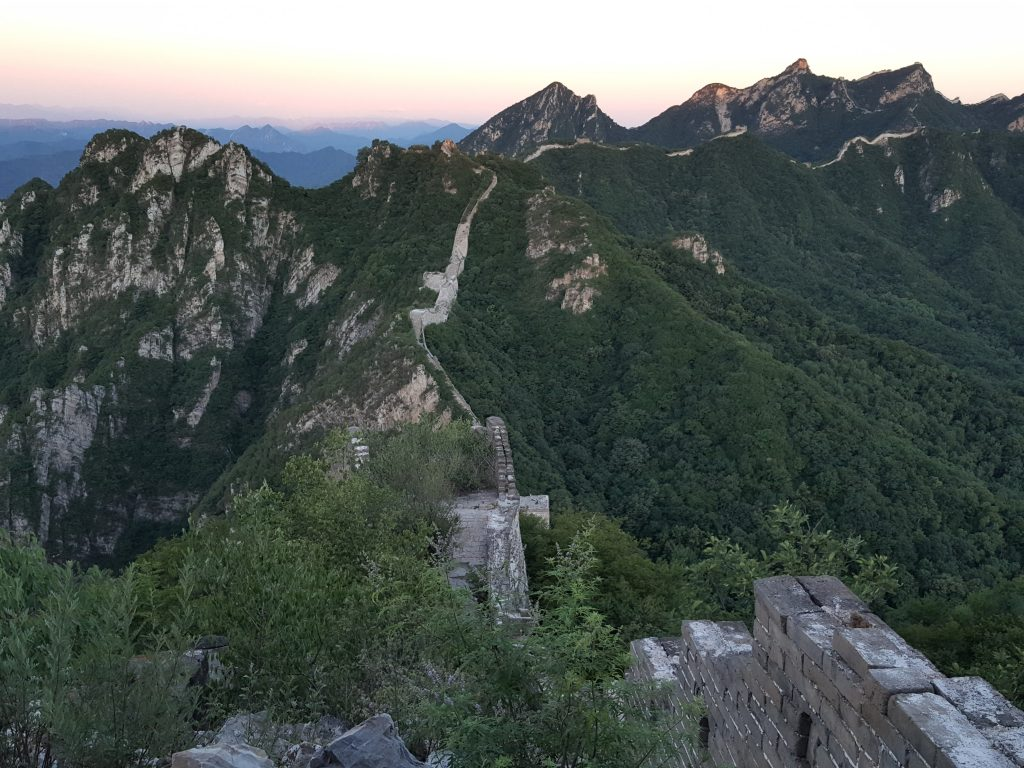 Sunrise Great Wall of China Jiankou