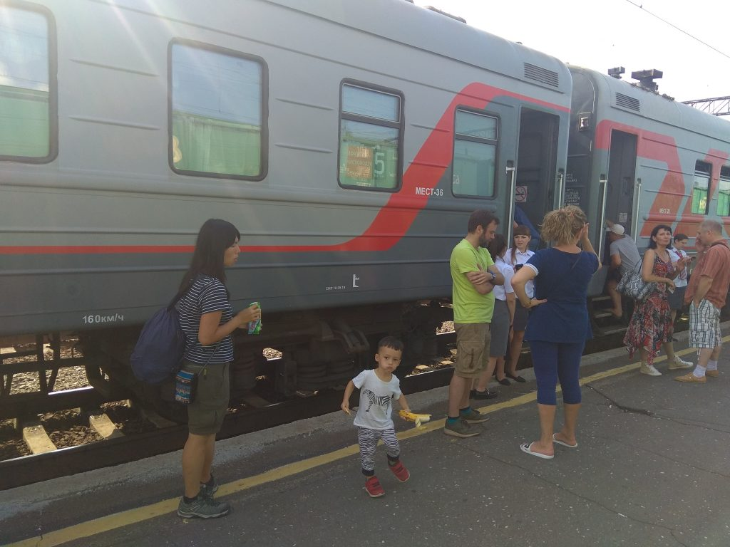 Transsiberian train Irkutsk to Omsk