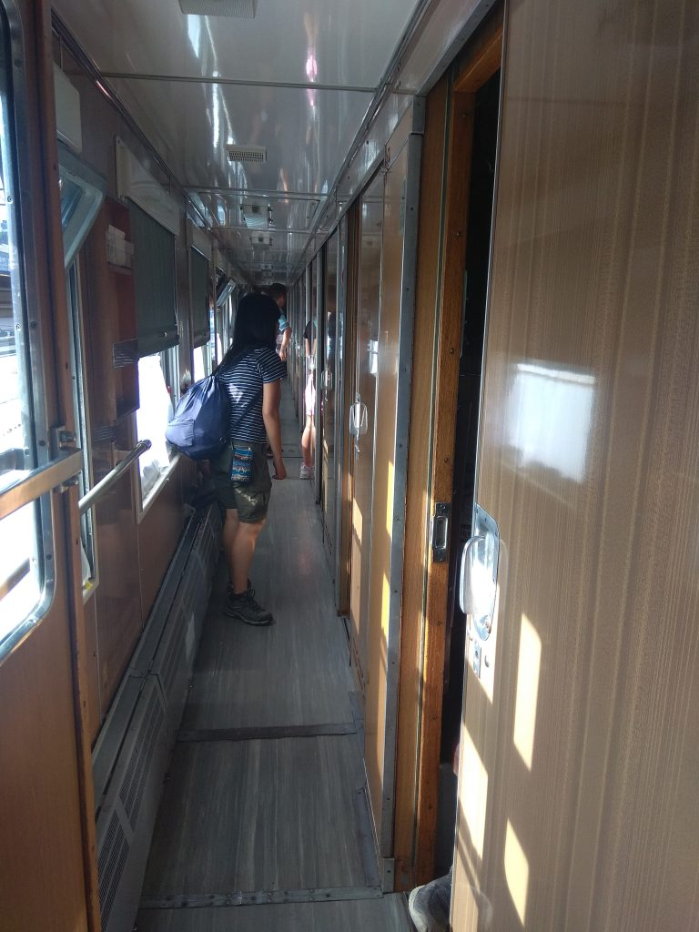 The corridor of 2nd class in Russian trains