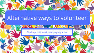 Alternative ways to volunteer