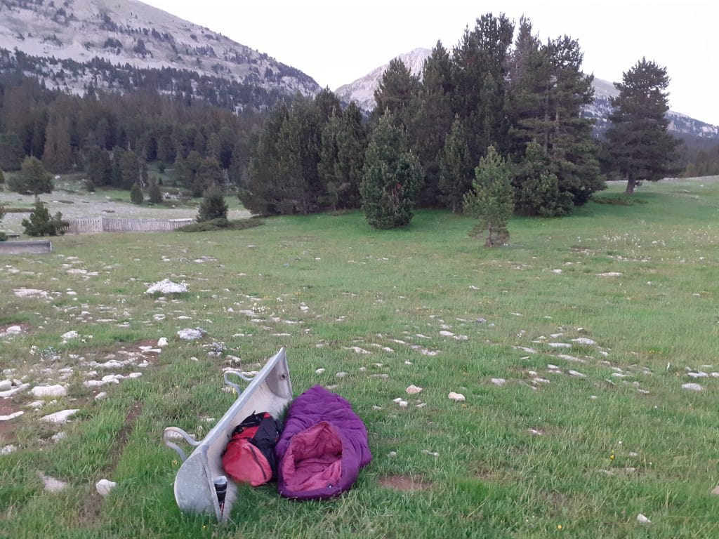 Bivouacking in the Vercors