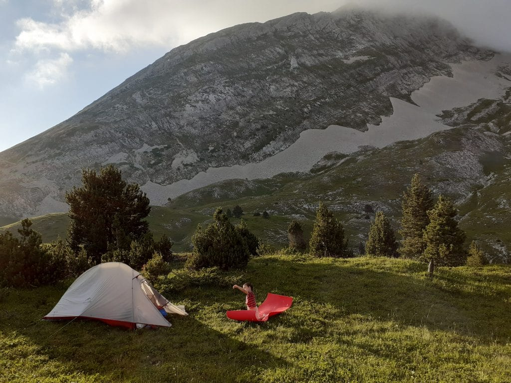 Camping at Le Grand Veymont