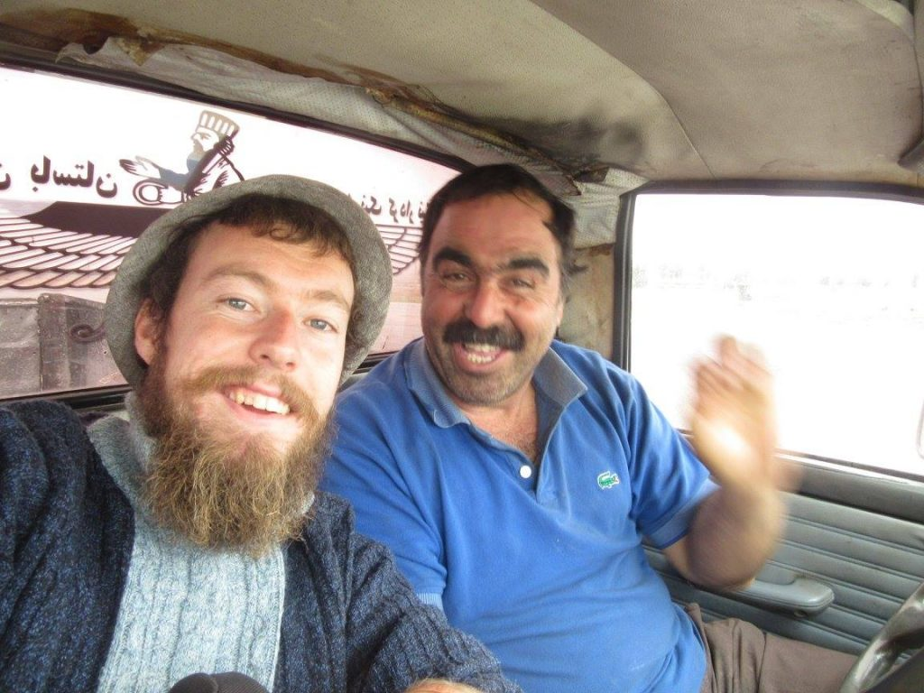 Hitchhiking in Iran with a guy