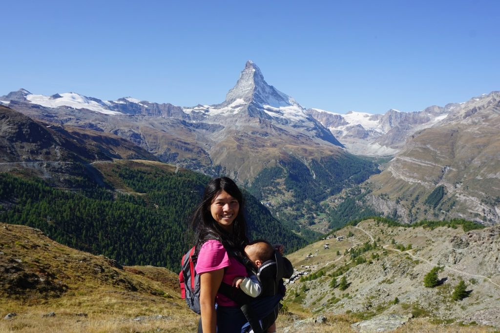 Hiking in Switzerland with my family