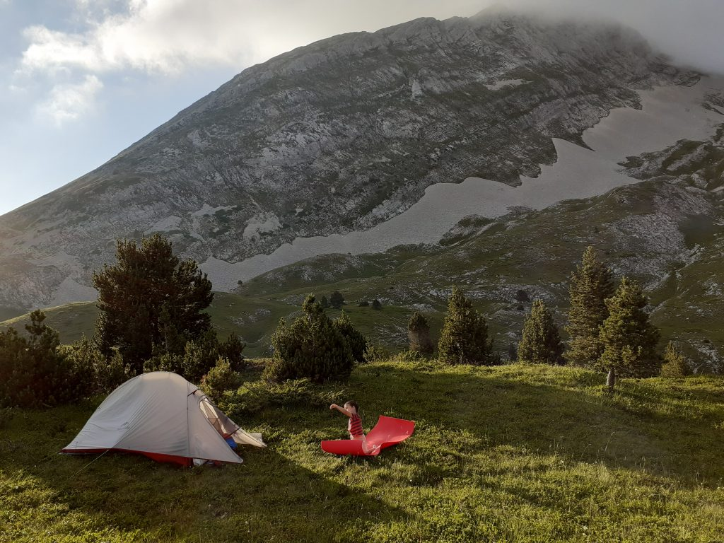 Camping in the French mountains