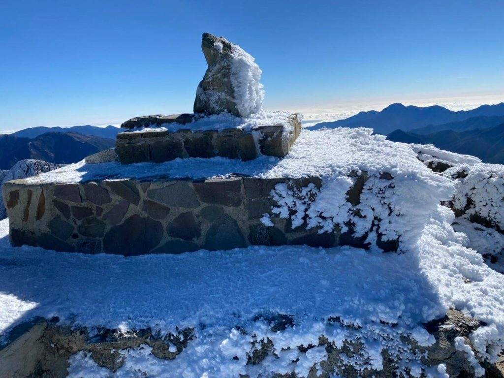 Yushan covered with snow